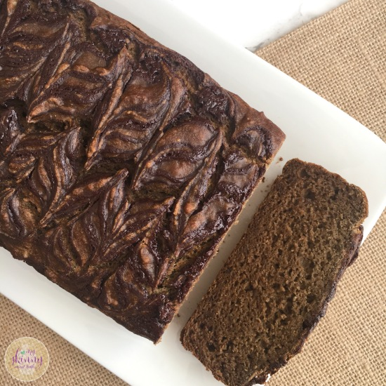Chocolate Swirl Pumpkin Banana Bread | My Skinny Sweet Tooth