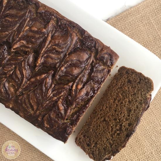 Chocolate Swirl Pumpkin Banana Bread | My Skinny Sweet Tooth