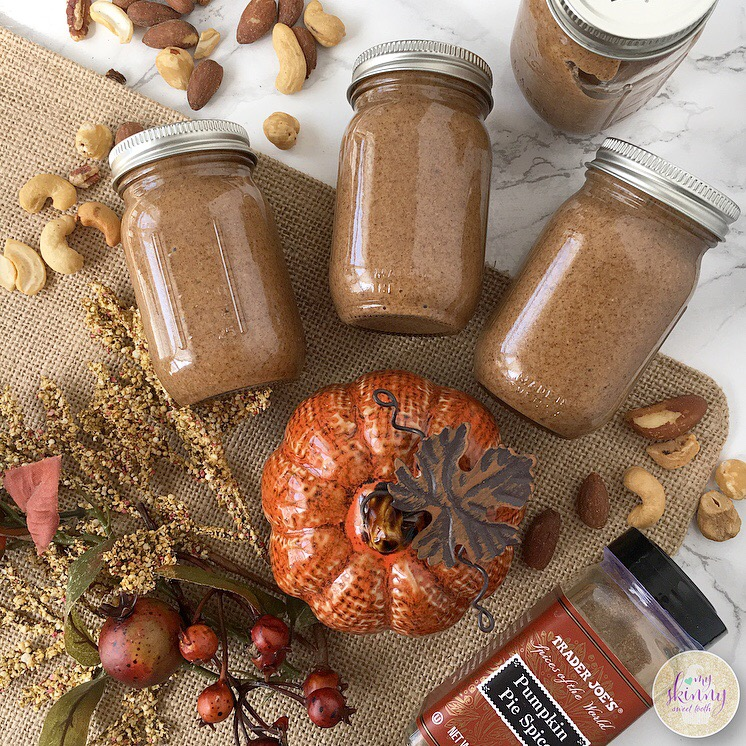 Pumpkin Spiced Mixed Nut Butter | My Skinny Sweet Tooth