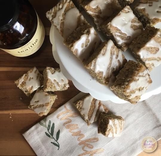 Aveda Tea Cake Bars | My Skinny Sweet Tooth