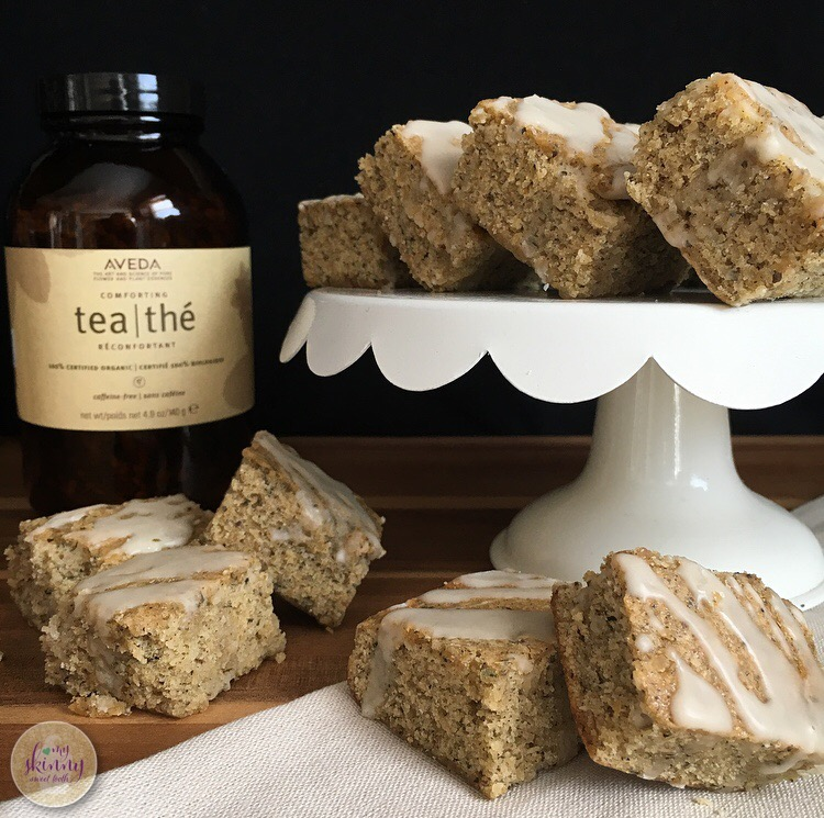 Aveda Tea Cake Bars | My Skinny Sweet Tooth
