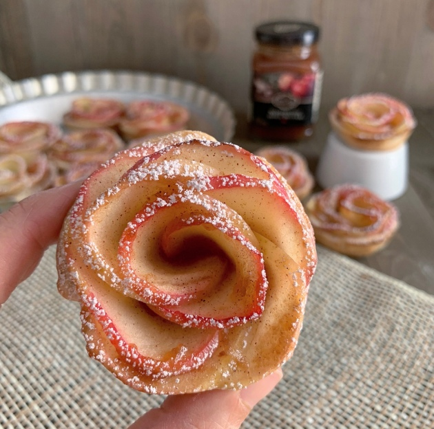 Mini Apple Butter Rose Tarts | My Skinny Sweet Tooth