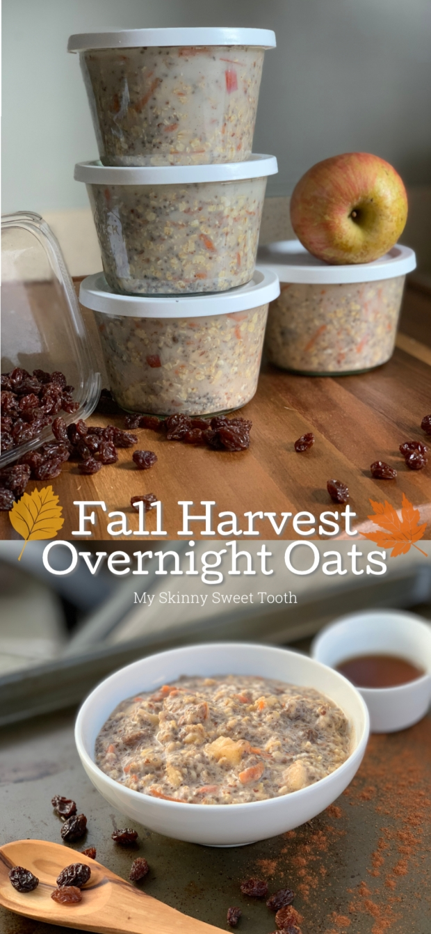 Fall Harvest Overnight Oats | My Skinny Sweet Tooth