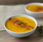 Roasted Butternut Squash Soup with Apple + Persimmon | My Skinny Sweet Tooth