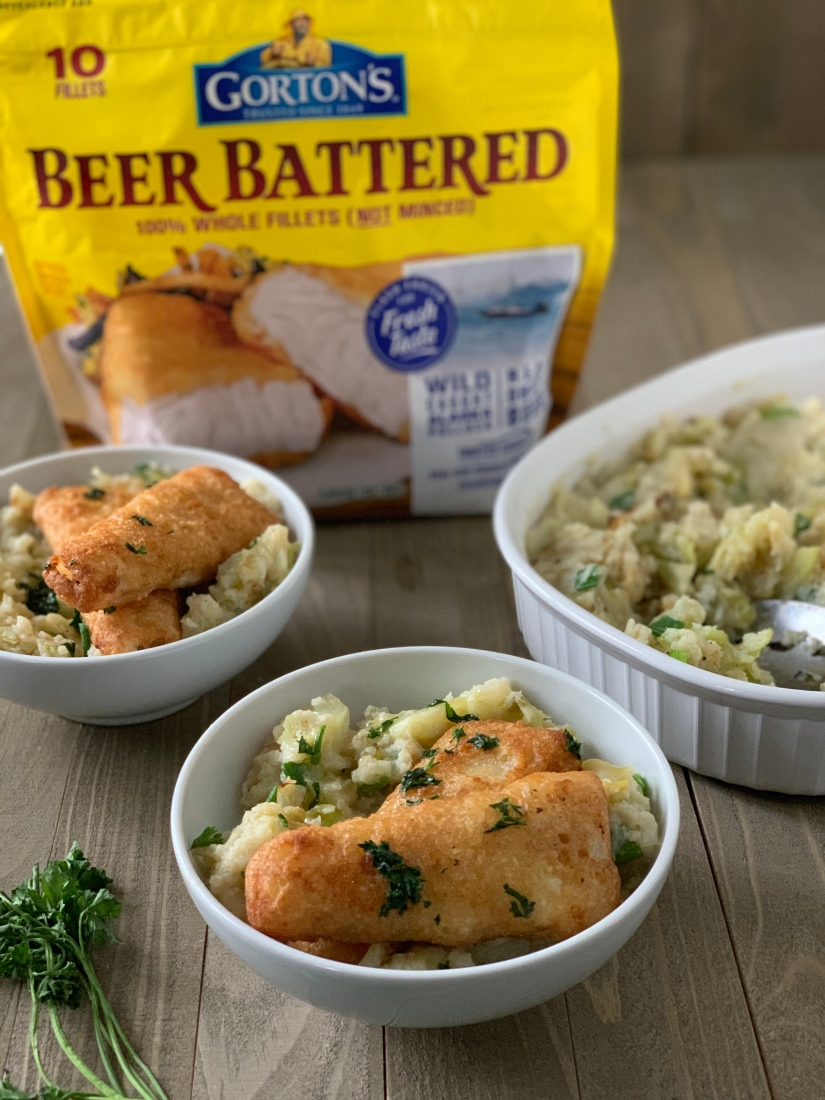 Skinny Irish Colcannon with Beer Battered Fillets | My Skinny Sweet Tooth