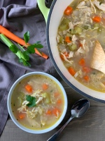 Hearty Chicken & Cauliflower Rice Soup | My Skinny Sweet Tooth